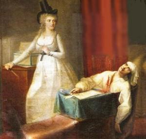 Через несколько месяцев Марата заколола в его собственной ванне Шарлотта Кордэ