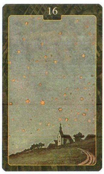 16 карта ЗВЕЗДА Оракул Ленорман Lo Scarabeo