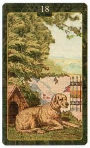 Значение 18 карты СОБАКА из Оракула Ленорман (из книги Маркуса Кац и Тали Гудвин)