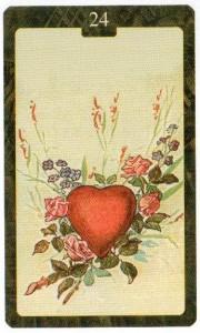 Значение 24 карты Сердце - Малый Оракул Ленорман