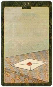 Значение 27 карты Письмо - Малый Оракул Ленорман