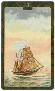 Значение 3 карты КОРАБЛЬ из Оракула Ленорман (из книги Маркуса Кац и Тали Гудвин)