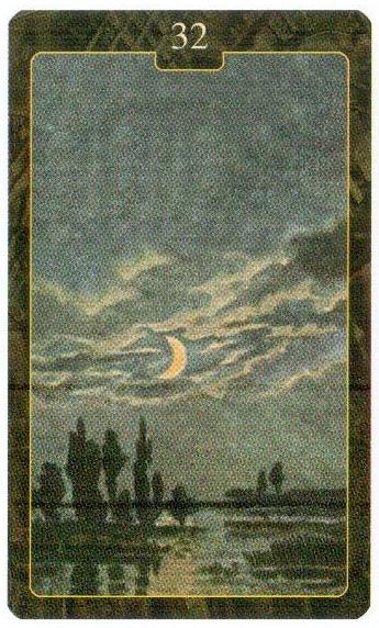 32 карта Луна Оракул Ленорман Lo Scarabeo
