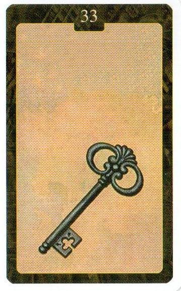 33 карта Ключ Оракул Ленорман Lo Scarabeo